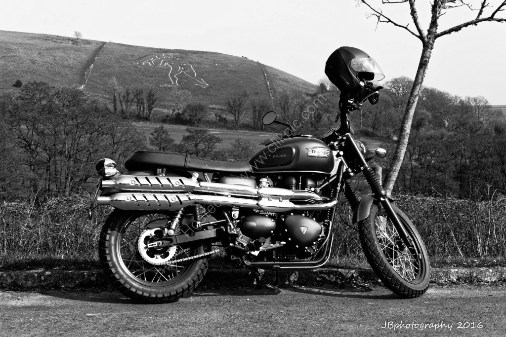 Triumph Scrambler at Cerne Giant