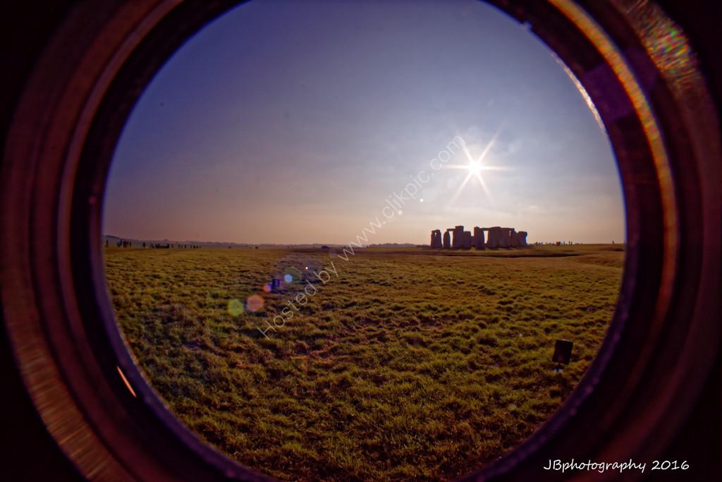 Stonehenge sunburst