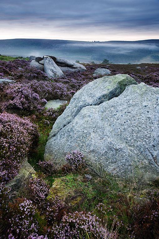 Rocks andheather