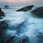 Trebarwith Strand incoming tide