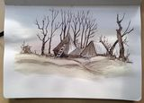 Winter Trees & Haystack