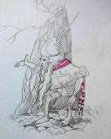 Sketch copied from an Arthur Rackham book - Dwarf