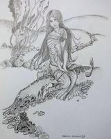 Sketch copied from an Arthur Rackham book - Fishermans Friend