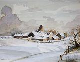 Snow Scene and Farmstead