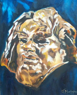 The head of Balzac by Rodin