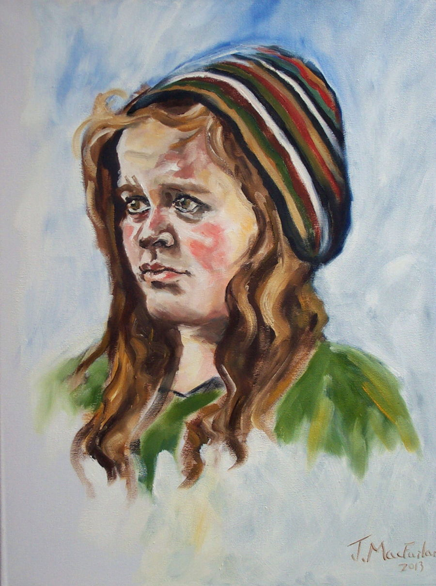 Annabelle Rose with Woolly Hat