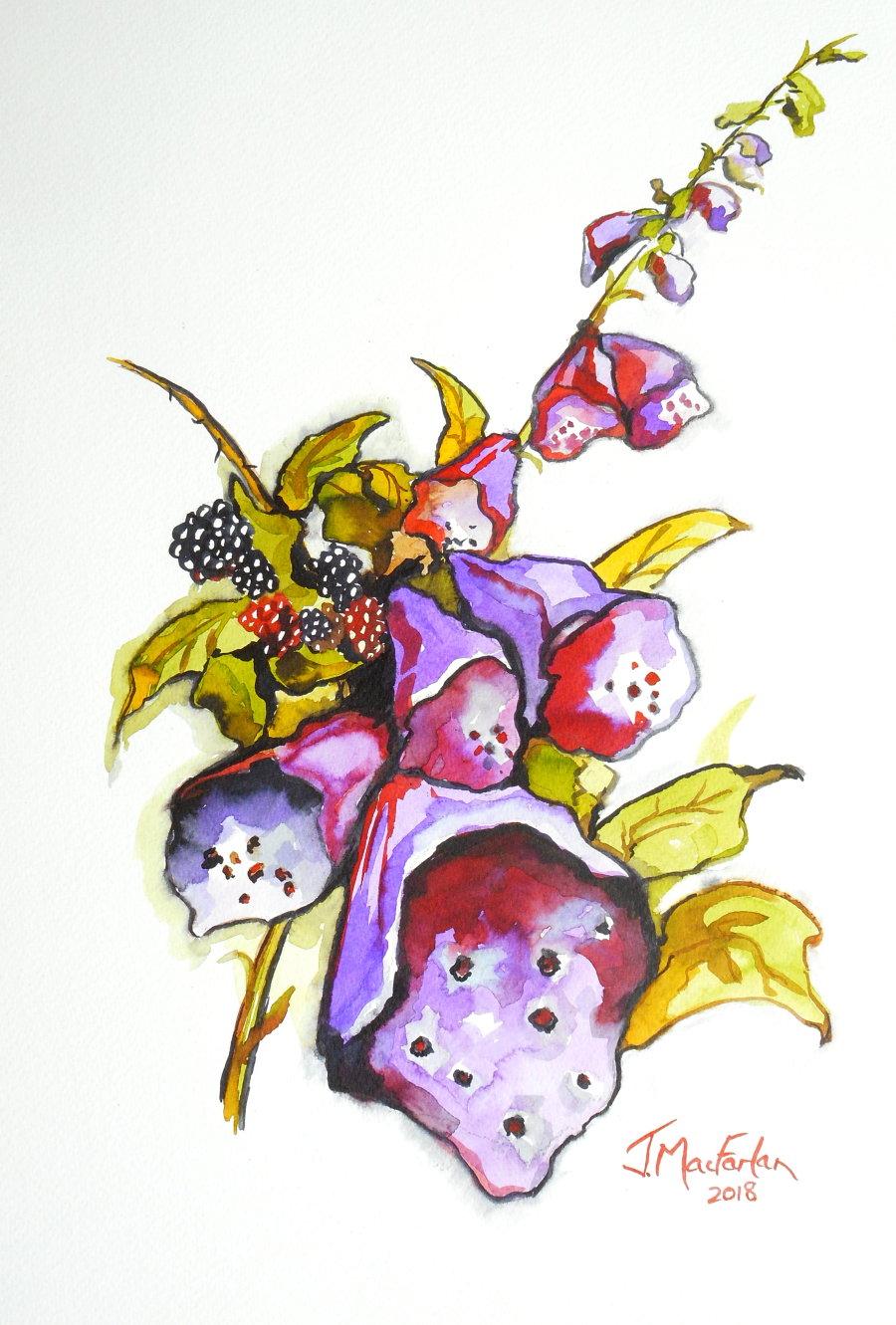 Foxgloves and Blackberries