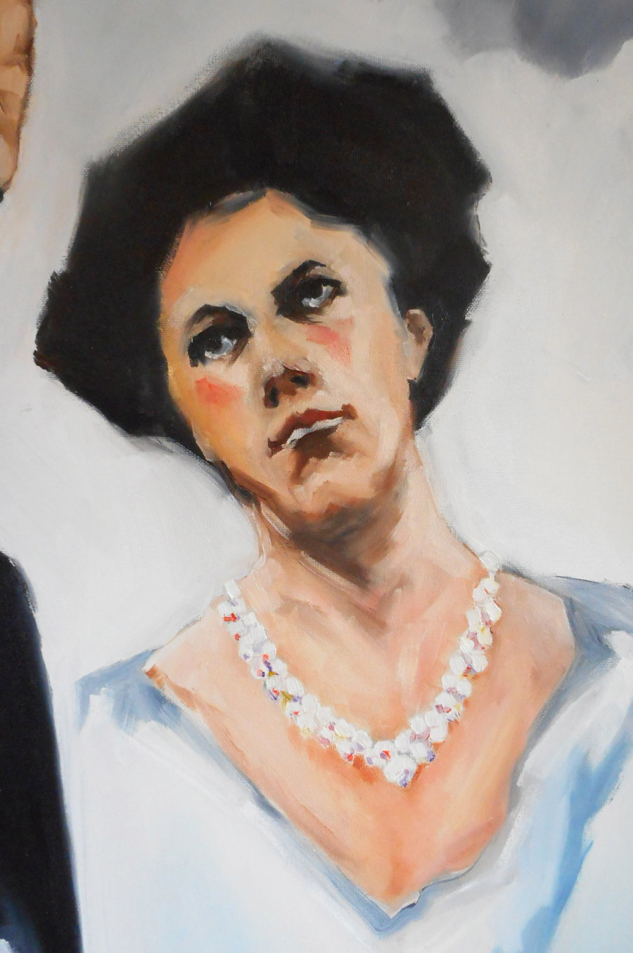 """Detail from painting """"The Pearl Necklace"""""""