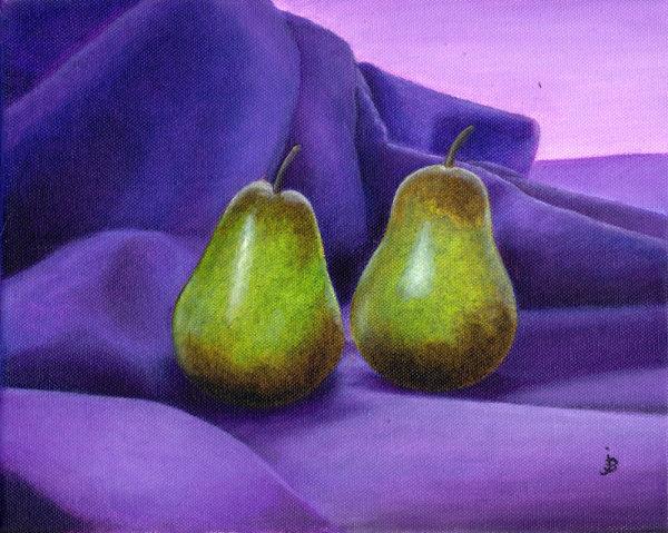 Pears on Purple