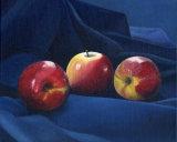 Apples on Blue