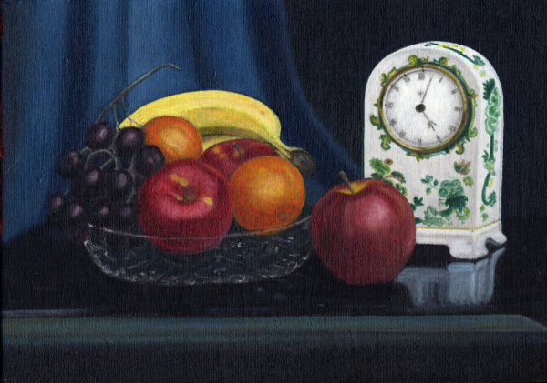 Clock and Fruit