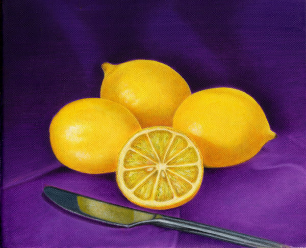 Lemons on Purple