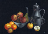 Pewter with Oranges