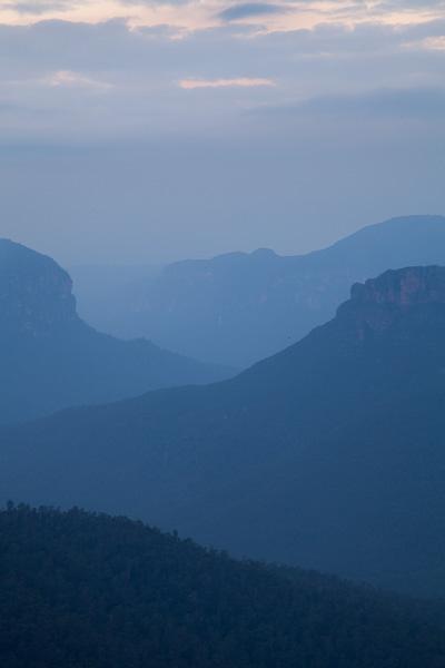 Blue Mountains evening