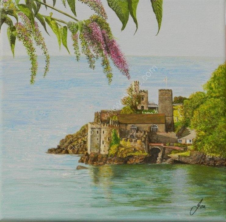 Castle through the Lilac