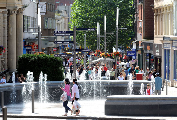 The new fountain in Queen Square