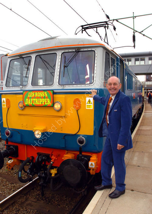 Radio WM presenter Les Ross with his train.