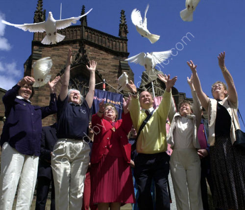 Peace Doves at St Peter's Church, Wolverhampton.