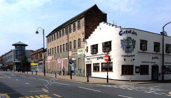 School Street, Wolverhampton showing the old W. M. Evans Hardware store and Cataldo's  Italian Restaurant, part of the Italian area.