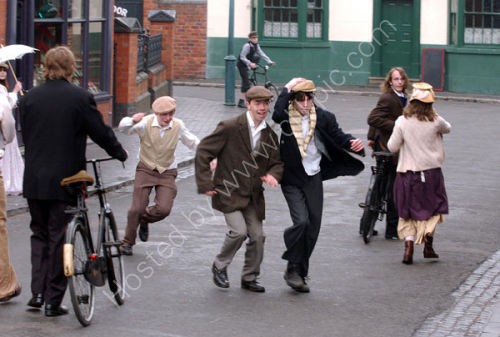 Filming of The Supreme Sunbeam by Central Youth Theatre at the Black Country Museum.