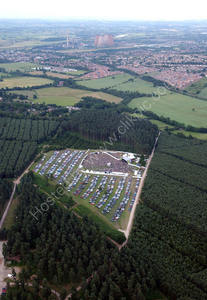 The Embrace concert at Cannock Chase taken from a helicopter early evening.