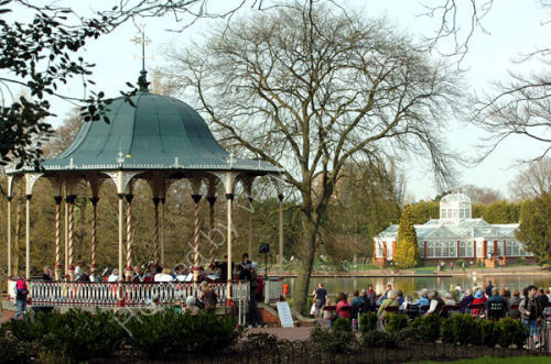 Concert at the bandstand in West Park