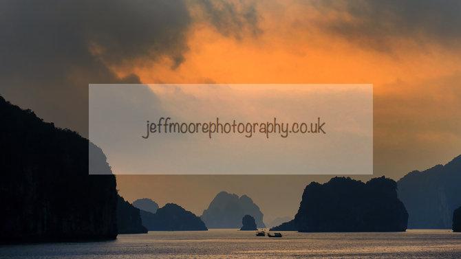 Sunset Han Hoi Bay