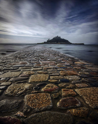 Walk way to St Michaels Mount