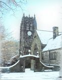 Halifax Minster in the snow