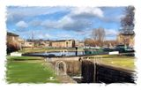 lock to the canal basin, Brighouse - 2011 calendar