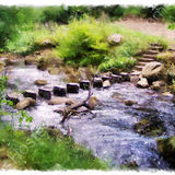 Stepping stones at Hardcastle Crags