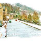 Frozen canal, Hebden Bridge - 2013 Hebden Bridge & Calderdale calendar