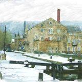 Snow on the canal, Hebden Bridge