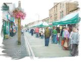 Totally local street market, Brighouse