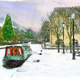 Snow on Canal - 2011 calendar Hebden Bridge and Calderdale