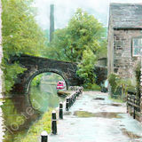 On the canal at Hebden Bridge