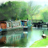 On the canal, Hebden Bridge2010 calendar