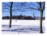 snow on Savile Park, Halifax - 2011 calendar