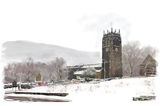 Snow at the Halifax Minster - 2014 calendar