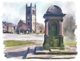 St Judes and the drinking fountain at Savile Park - 2014 calendar