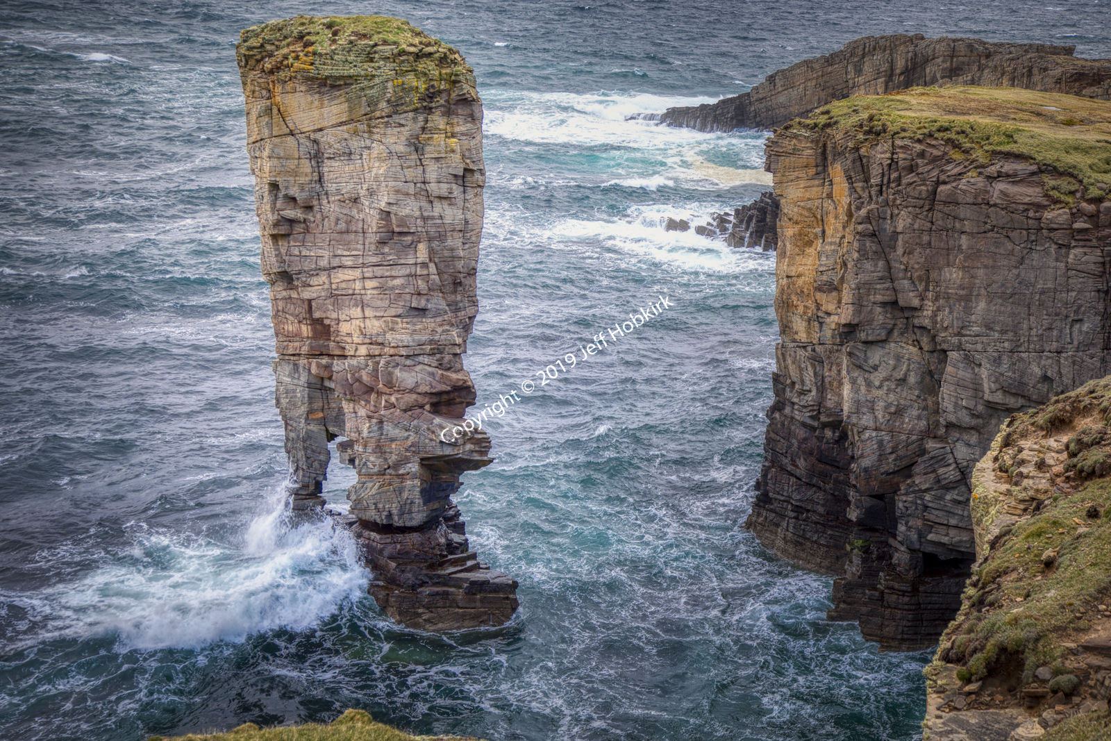 Yesneby Stack, Orkney Mainland