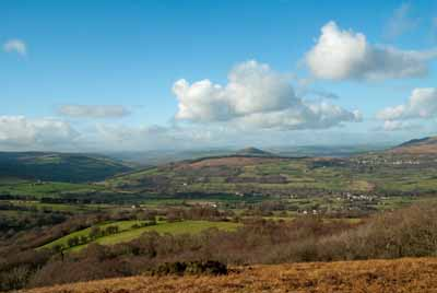 View from Llangynidr Mountain