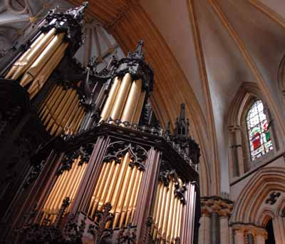 organ pipes at Lincoln