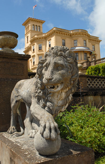 One of the Lions guarding Queen Victoria's back garden...