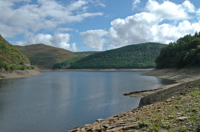 View of Elan Valley, near Rhayader, Mid Wales.