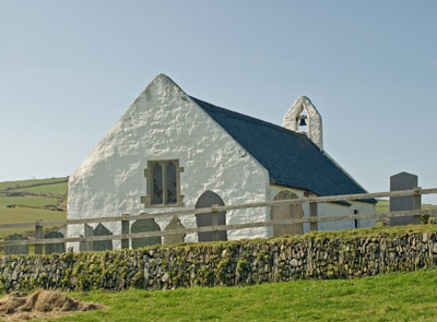 The Church at Mwnt, near Cardigan, West Wales.