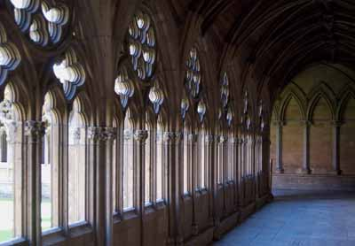 corridor at Lincoln cathedral