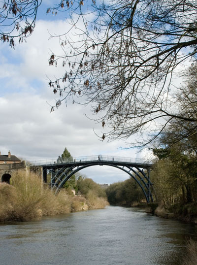 Telford's bridge at Ironbridge