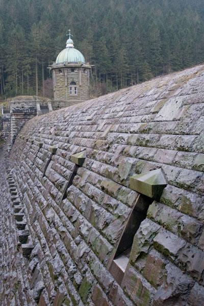 Close-up of the wall at Pen-y-Garreg Dam