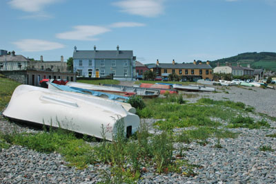 Boats at Greystones beach